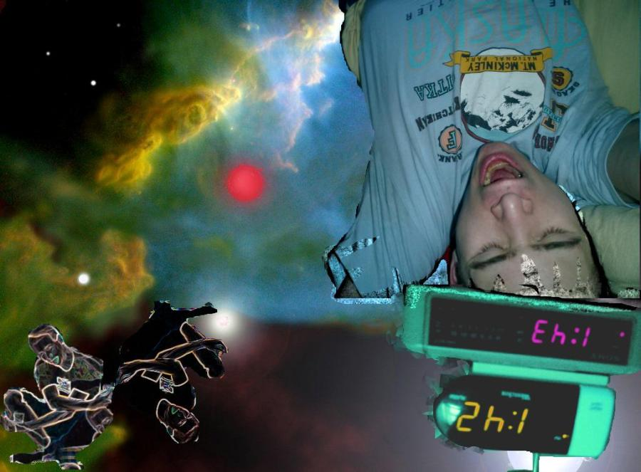 in sleep the voices have no reins and the dreamer is in the saddle riding through the open source universe on a horse!