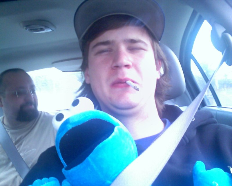 Cookie Monster wasnt satisfied with shotgun