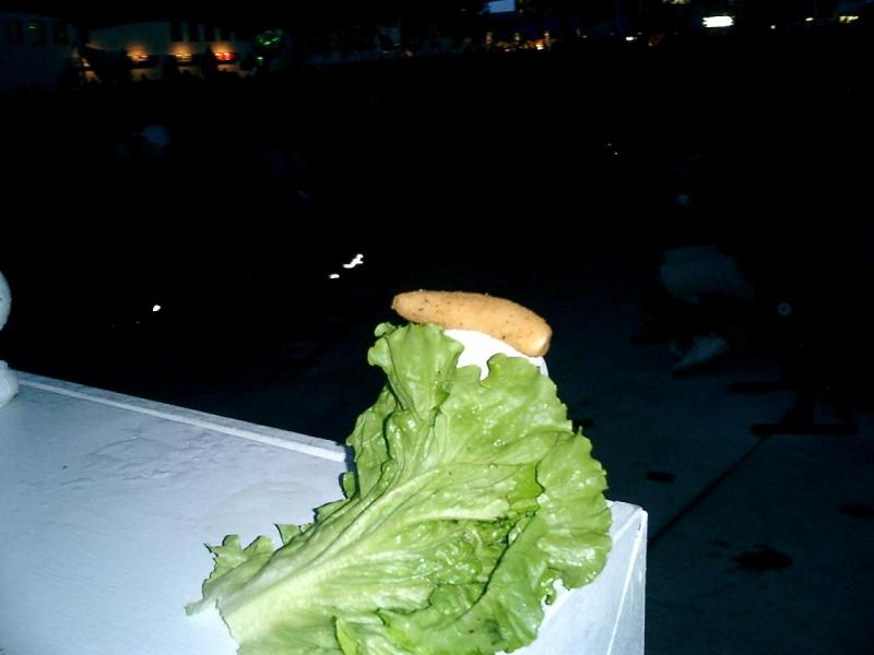 Bib of lettuce and cheese of stick