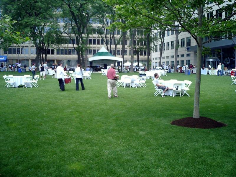 This is the lawn at Technology Square