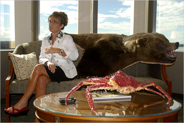 Snowcrabs and bears and veeps Oh My sarah palin 3rdarm