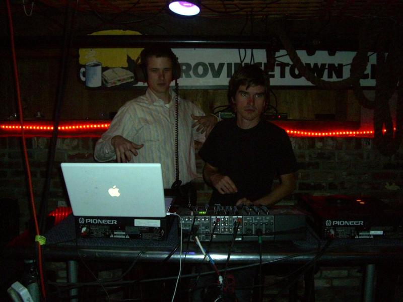 DJs WHITE ANIMAL and 3rdarm in the Bradford basement on a steamy Thursday night in August