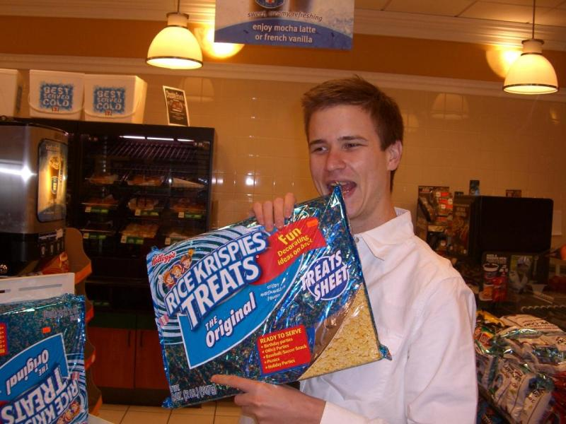 Im going to build me a house with Rice Krispy Bricks
