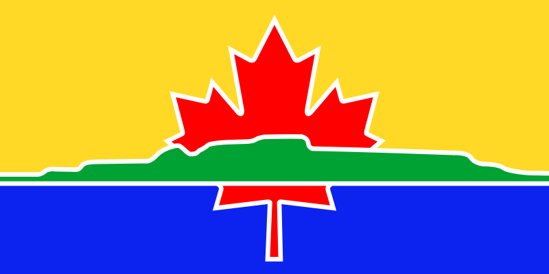 The Flag of Thunder Bay Ontario