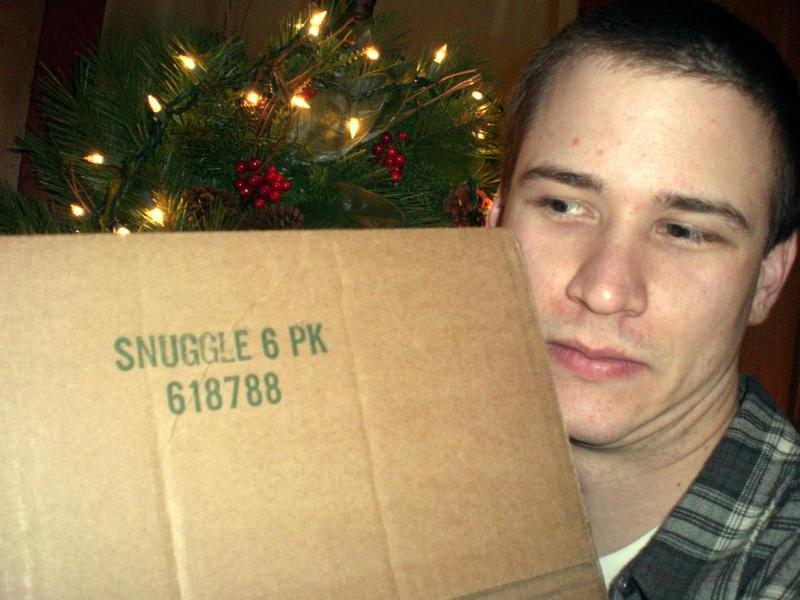 My holiday picture featuring the wholesale Snuggler