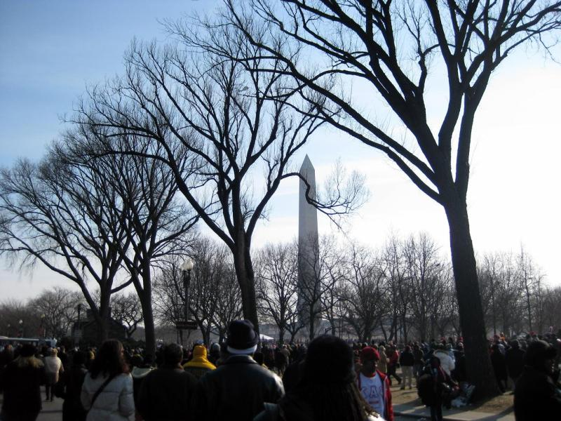 The Washington Monument from afar on Jan 20