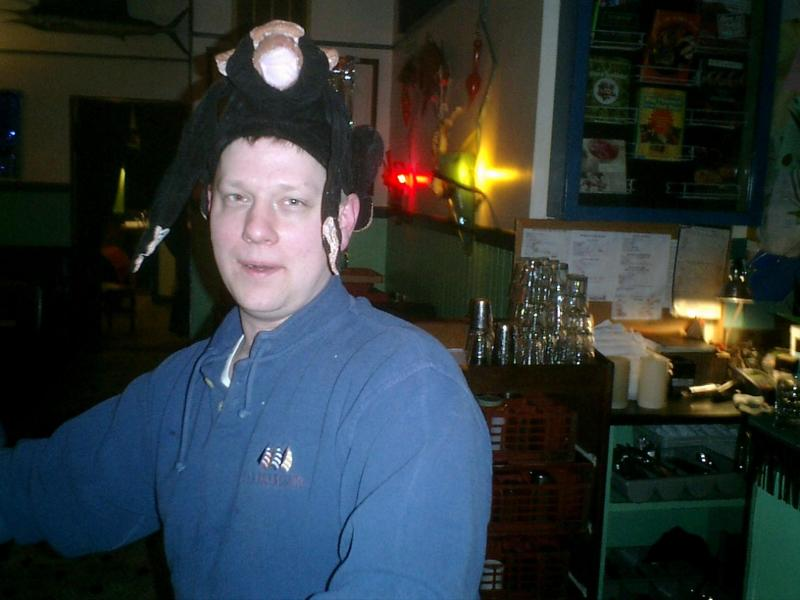 The Boss in a monkey hat