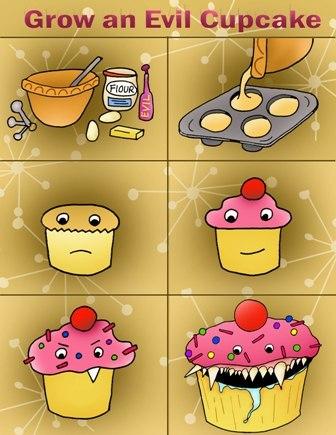Evil cupcakes bum me out