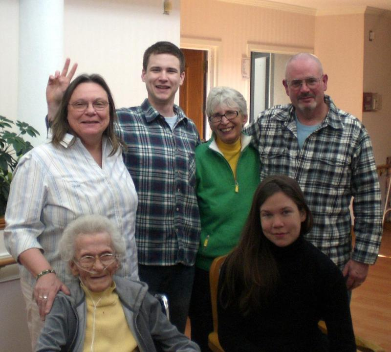 Family portrait at my grandmas 90th
