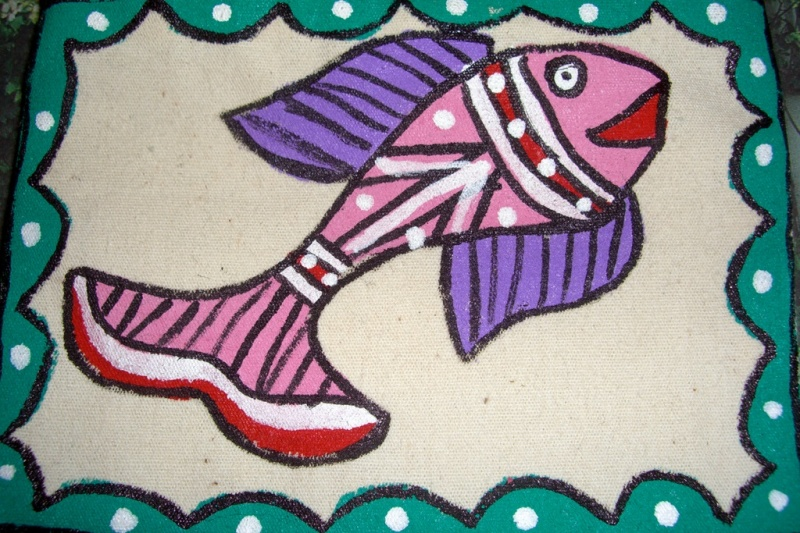 Handpainted fish on Ilam tea