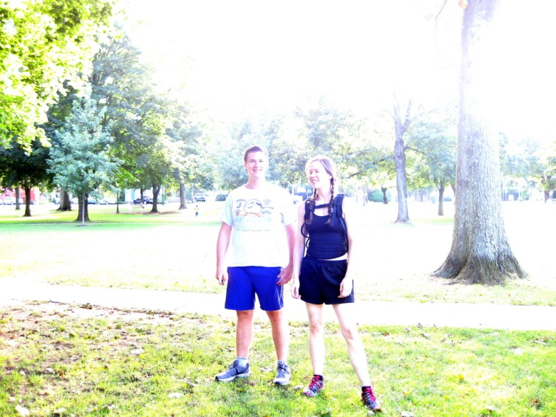 Kate and I before a 9 mile run to Sachems Head