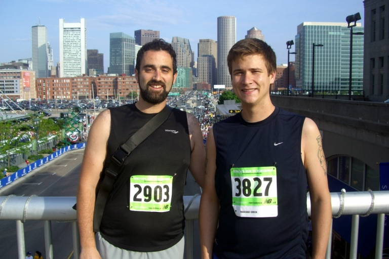 Eliot and I before the race
