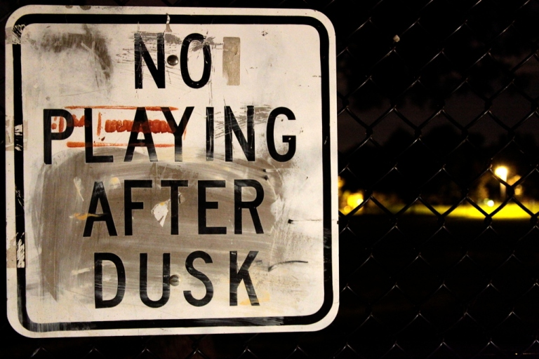 No playing after dusk
