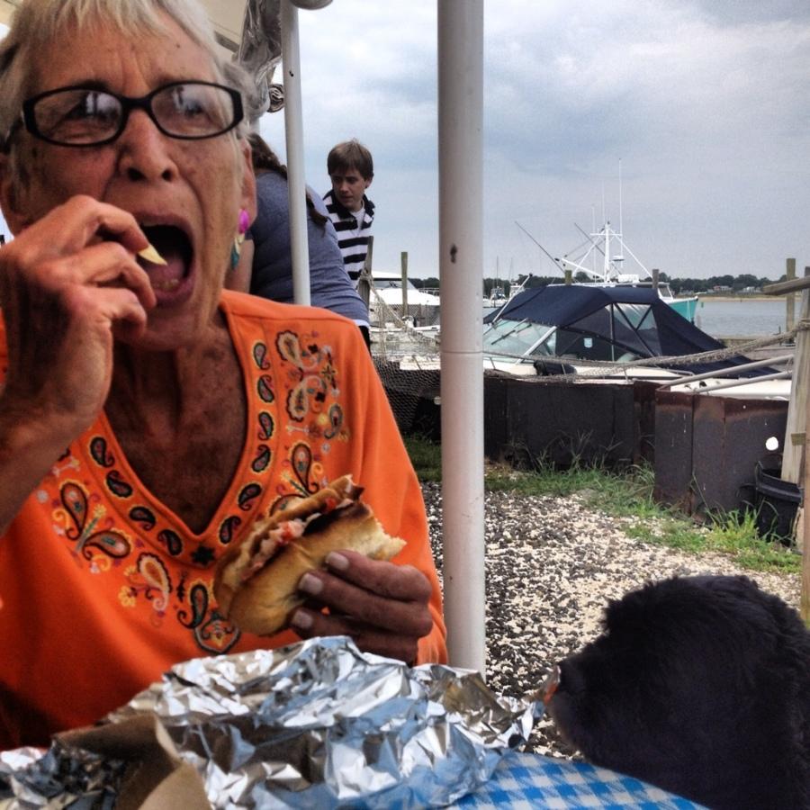 aunt Judy roxie lobster landing 3rdarm