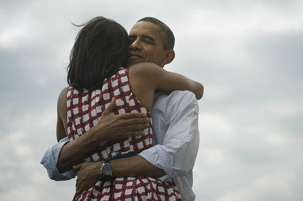 the pres and michelle 3rdarm obama