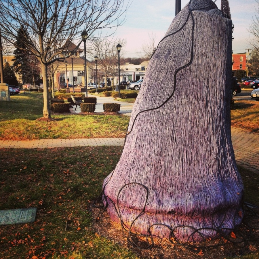 purple lace up sculpture madison ct
