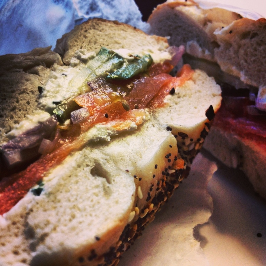 lox chive cream cheese new york bagel chicago il 3rdarm