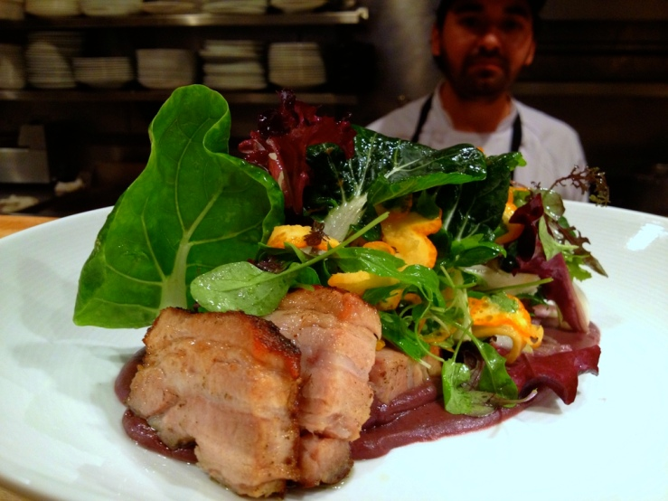 pork belly salad topolobampo lunch 3rdarm chicago king orange bok choy