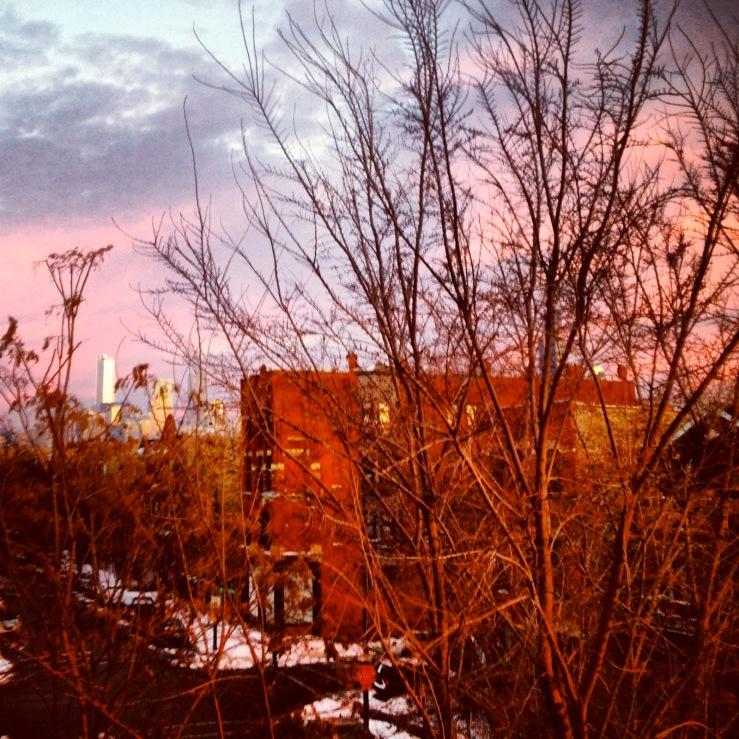 chicago sunset january 2014 3rdarm