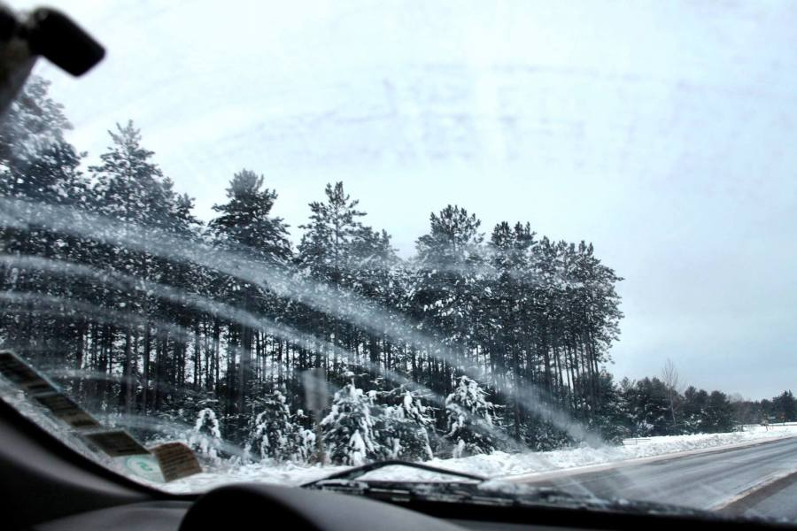 passing snowmobiles northwoods winter driving 3rdarm