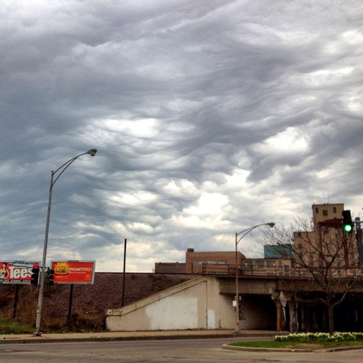 Chicago spring clouds 2014 Ogden ave 3rdarm