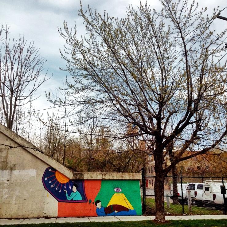 sleeping dog street art Chicago 3rdarm spring 2014