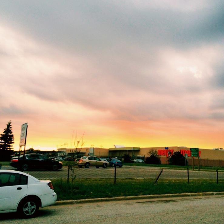 muskegon parking lot sunset summer 3rdarm