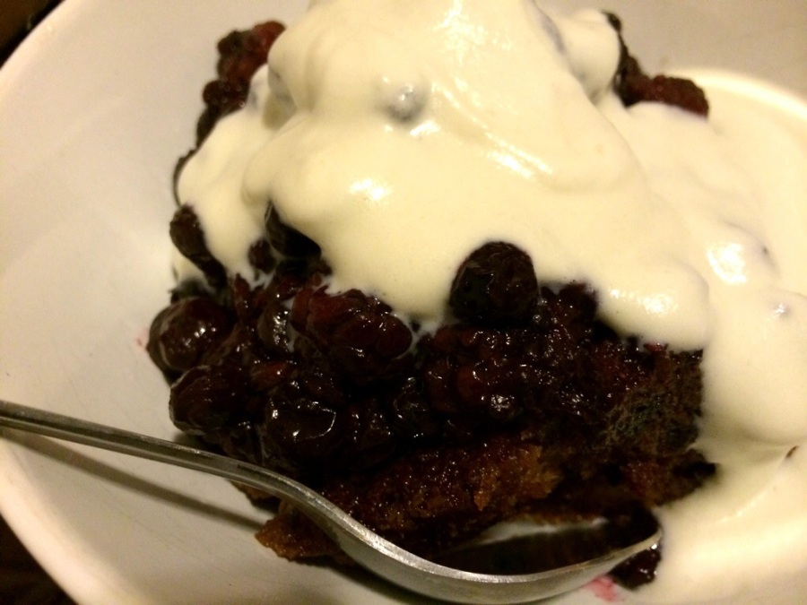 strawberry bread pudding homemade whipped cream 3rdarm peppercorns
