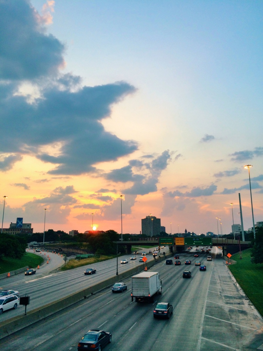 chicago sunset kennedy expressway 3rdarm