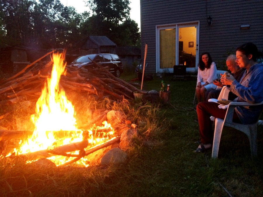 campfire at dusk winchendon massachusetts 3rdarm