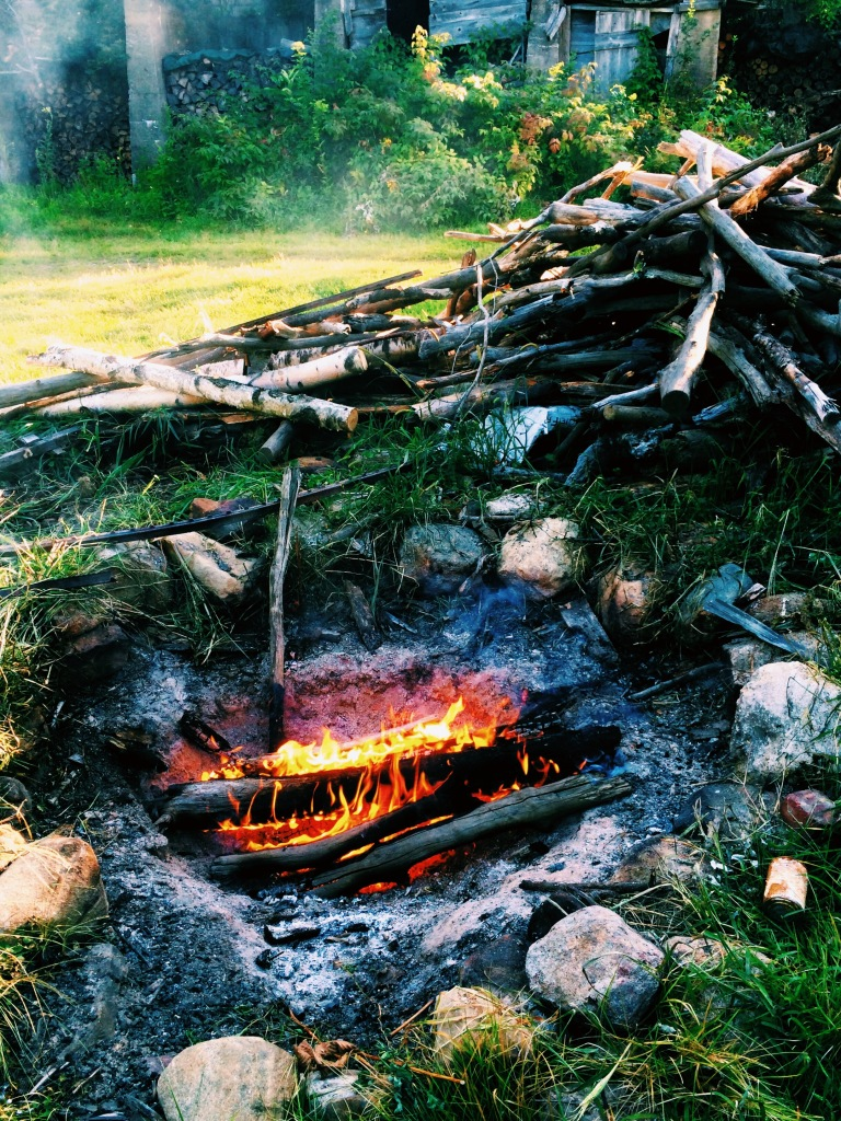 campfire at dusk winchendon massachusetts 3rdarm