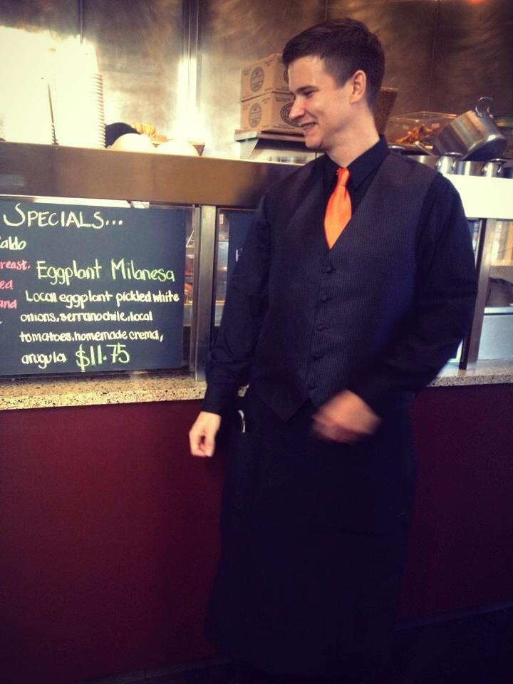 Arthur Mullen xoco Chicago manager seasonal torta eggplant milanesa sandwich 3rdarm