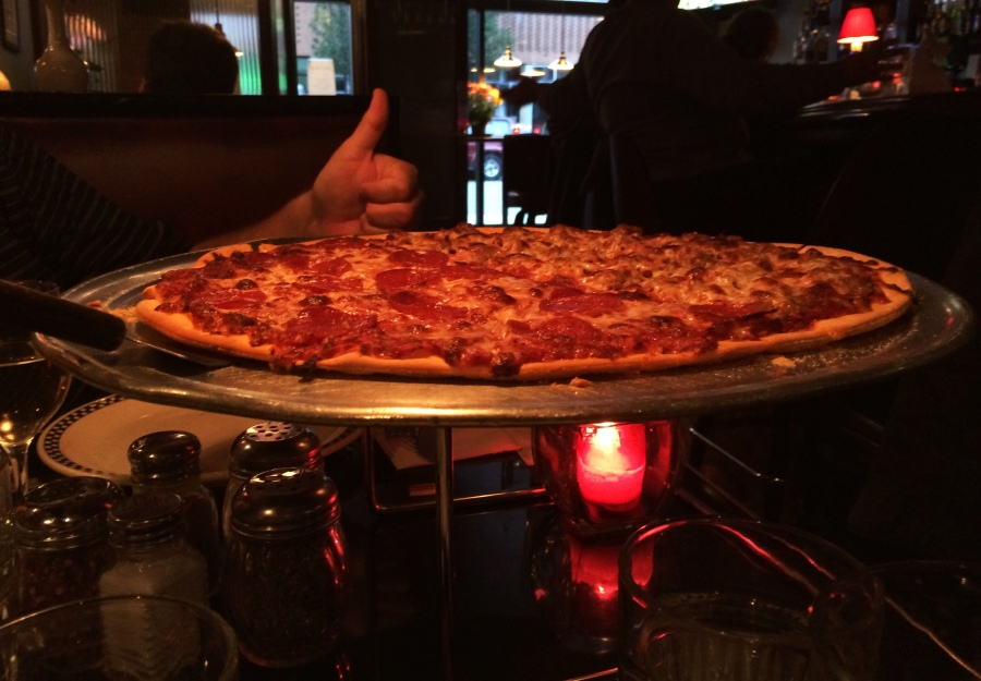 ginos north chicago style pizza thin crust tavern style cracker crust peggy 3rdarm meghan rob lamb van leuwen