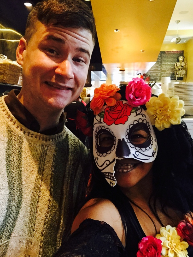 Arthur Mullen manager xoco Chicago Nayeli Garcia hostess skull makeup dia de Muertos 3rdarm