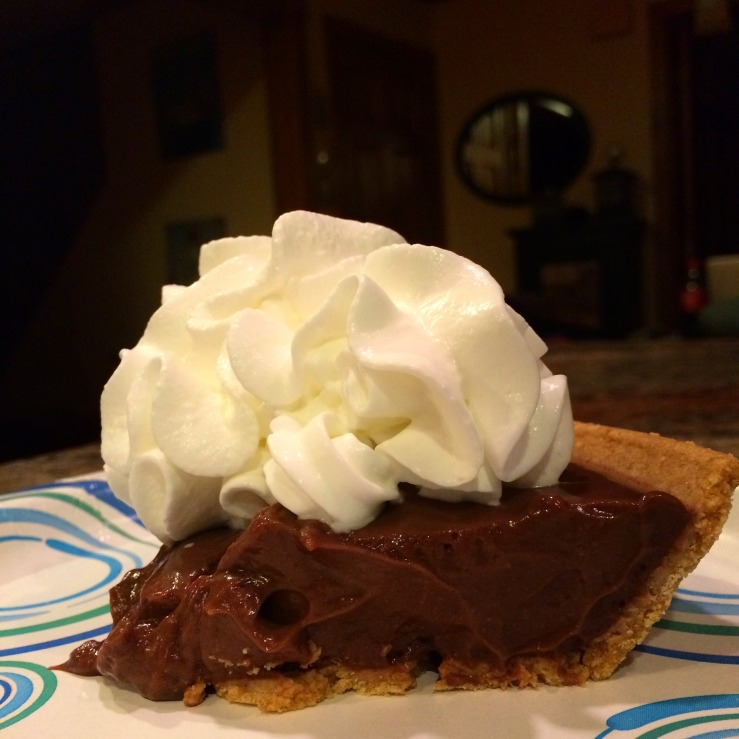chocolate pudding pie whipped cream connecticut guilford arthur mullen