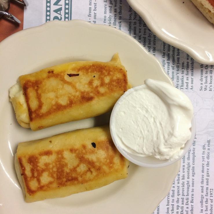 reins deli vernon connecticut cheese blintzes sour cream 3rdarm