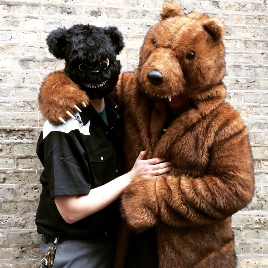 xoco chicago halloween felipe loza richard james nayeli garcia ramon flores sriracha costume vampire bear suit 3rdarm halloween 2015 arthur mullen