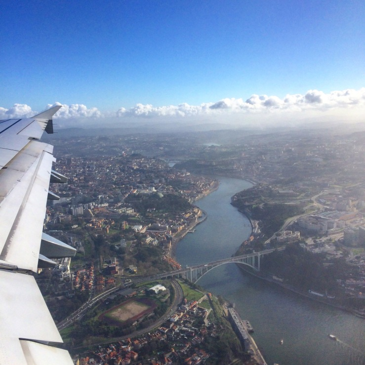 lufthansa porto 3rdarm airplane bridge view scenic douro river
