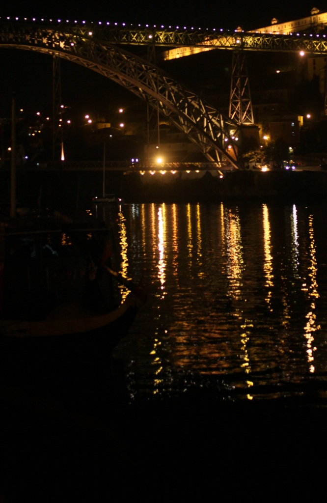 pont dom luis i ribeira night porto portugal 3rdarm bridge douro river yellow lights