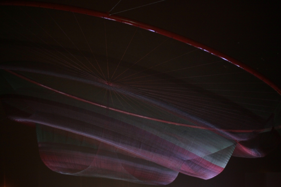 she changes janet echelman porto portugal public sculpture floating red nets wind choreography matosinhos beach portugal 3rdarm art