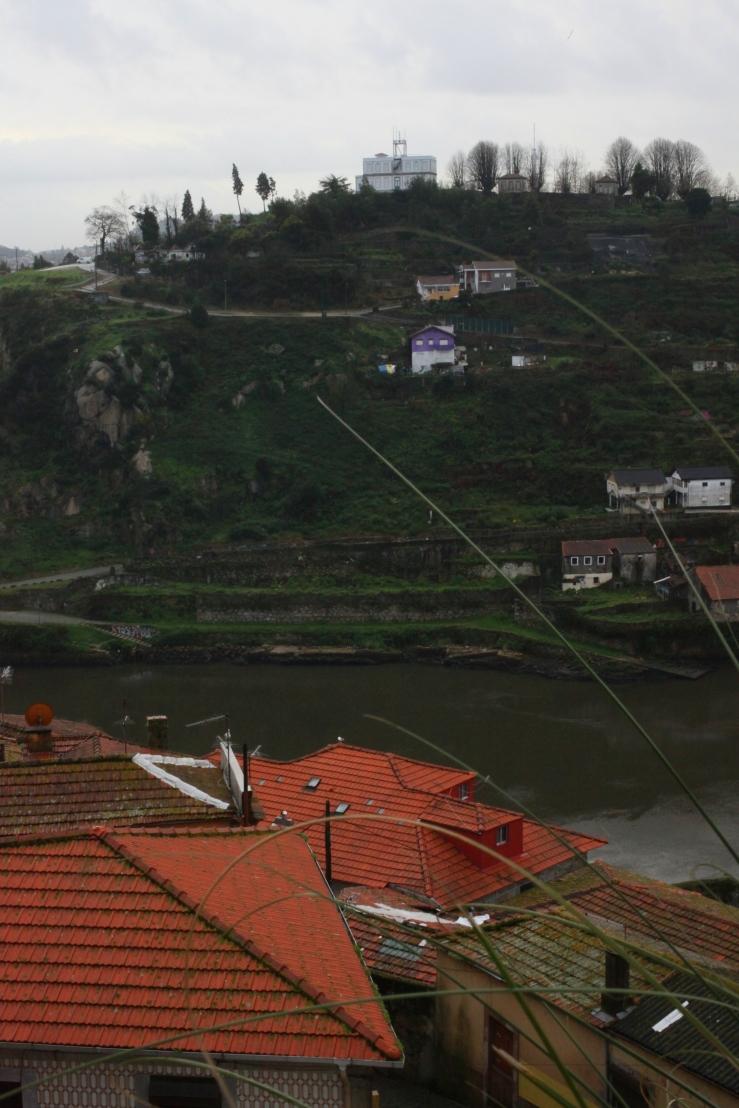 Ponte Infante D. Henrique bridge douro river gorge porto portugal tile roof historic yellow tramway dawn 3rdarm arthur mullen