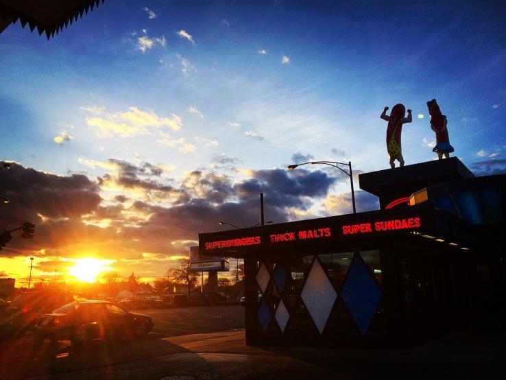 sunday equinox chicago superdawg sunset hotdog 3rdarm