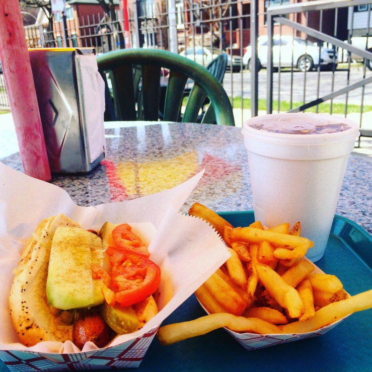 morrie o malleys hot dogs bridgeport chicago south side hotdogs police mustard 3rdarm patio french fries