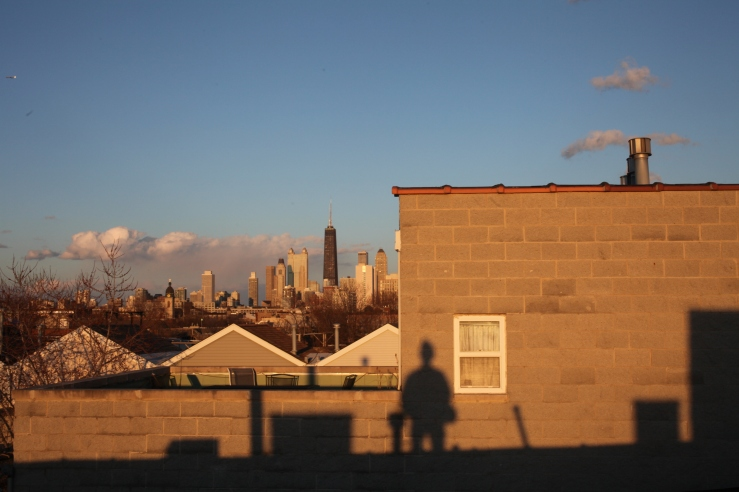 3rdarm west town chicago sunset setting sun equinox 3rdarm arthur robert mullen shadow colors dusk twilight gloaming city skyline
