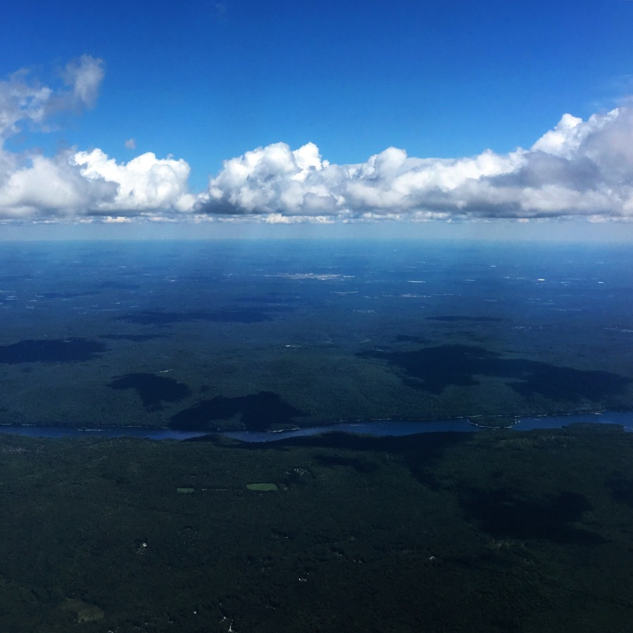 3rdarm connecticut shore river plane clouds