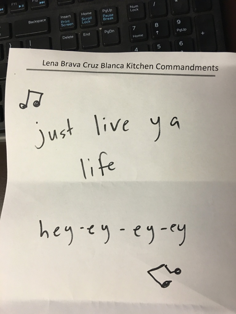 kitchen commandments joke 3rdarm