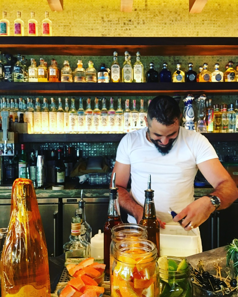lena brava cruz blanca chicago arthur mullen manager 900 randolph bayless restaurant 3rdarm sunset west loop striped bass seafood roly poly cat chad